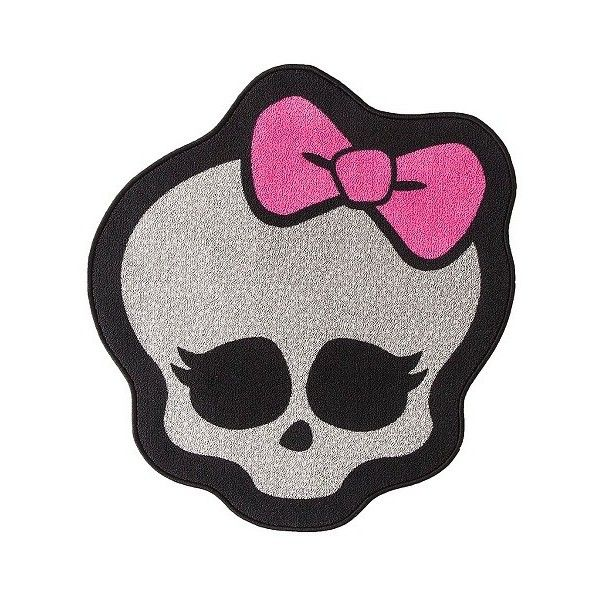 Monster High Skull Rug X30 Multicolor 25 Liked On Polyvore Featuring Home Rugs Multi Colored Area