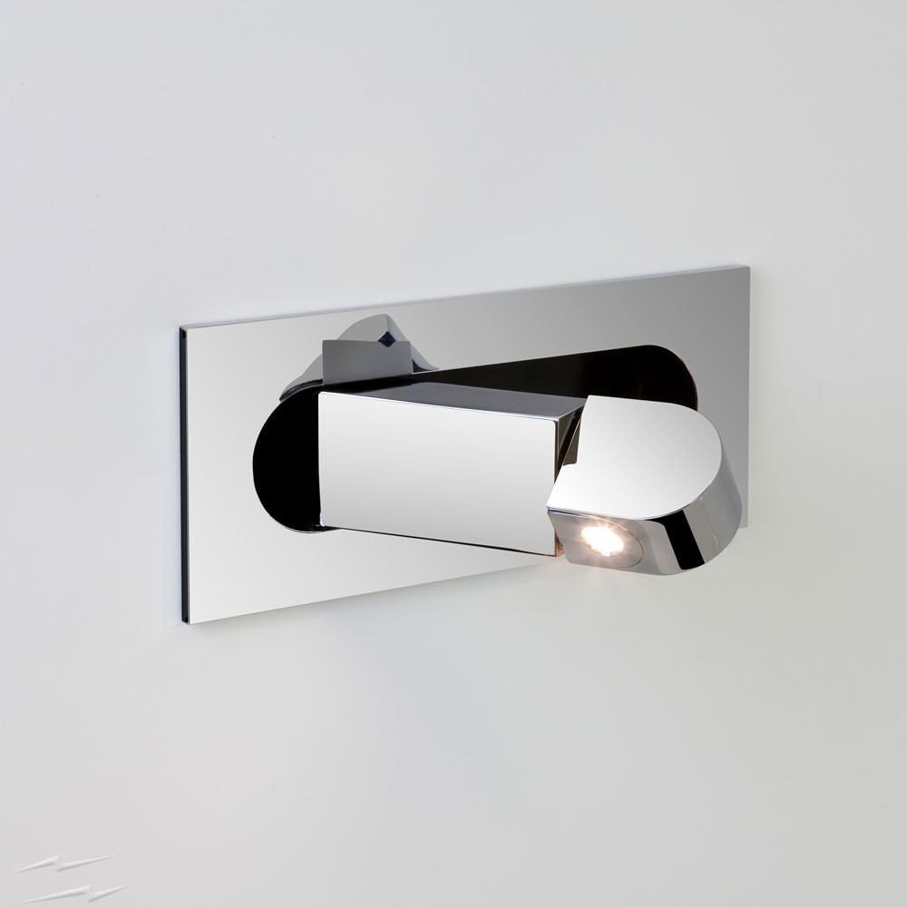 Digit Led Swing Arm Wall Light In Polished Chrome 4 4w 2700k 174 9lm Switched Ip20 Astro 1323010 Bedside Wall Lights Led Wall Sconce Swing Arm Wall Light
