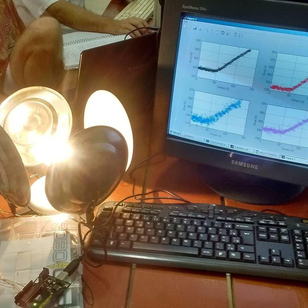 estudando a influência das cores na emissividade térmica. #arduino #robotica #fisica #fablab #ciencia #ensino #automação by jere_rere