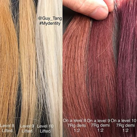Hairbesties Swipe Left For All The Charts And Formulas I Made Some Swatches To Help Everyone Underst How To Lighten Hair Hair Color Rose Gold New Hair Colors