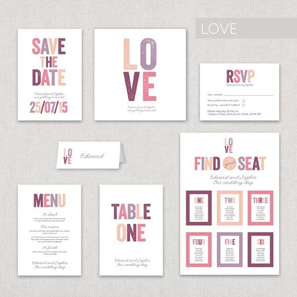 modern wedding stationery Google Search Wedding Invitation