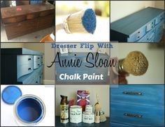Complete Tutorial on how to flip furniture with Annie Sloan Chalk Paint! This Dresser is painted in Napoleonic Blue with clear and dark wax finish. Click the link!