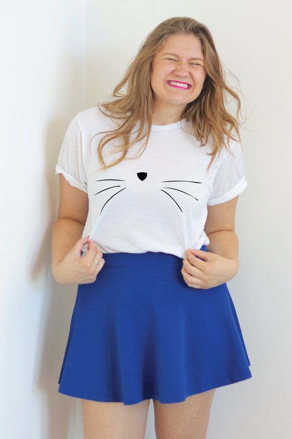 Cat Face T Shirt- Cat Shirt- Unisex Cat Shirt - Kitty Shirt - Tumblr Shirt - Kitten Shirt - Street Style - Teen Fashion - Tumblr - Pinterest
