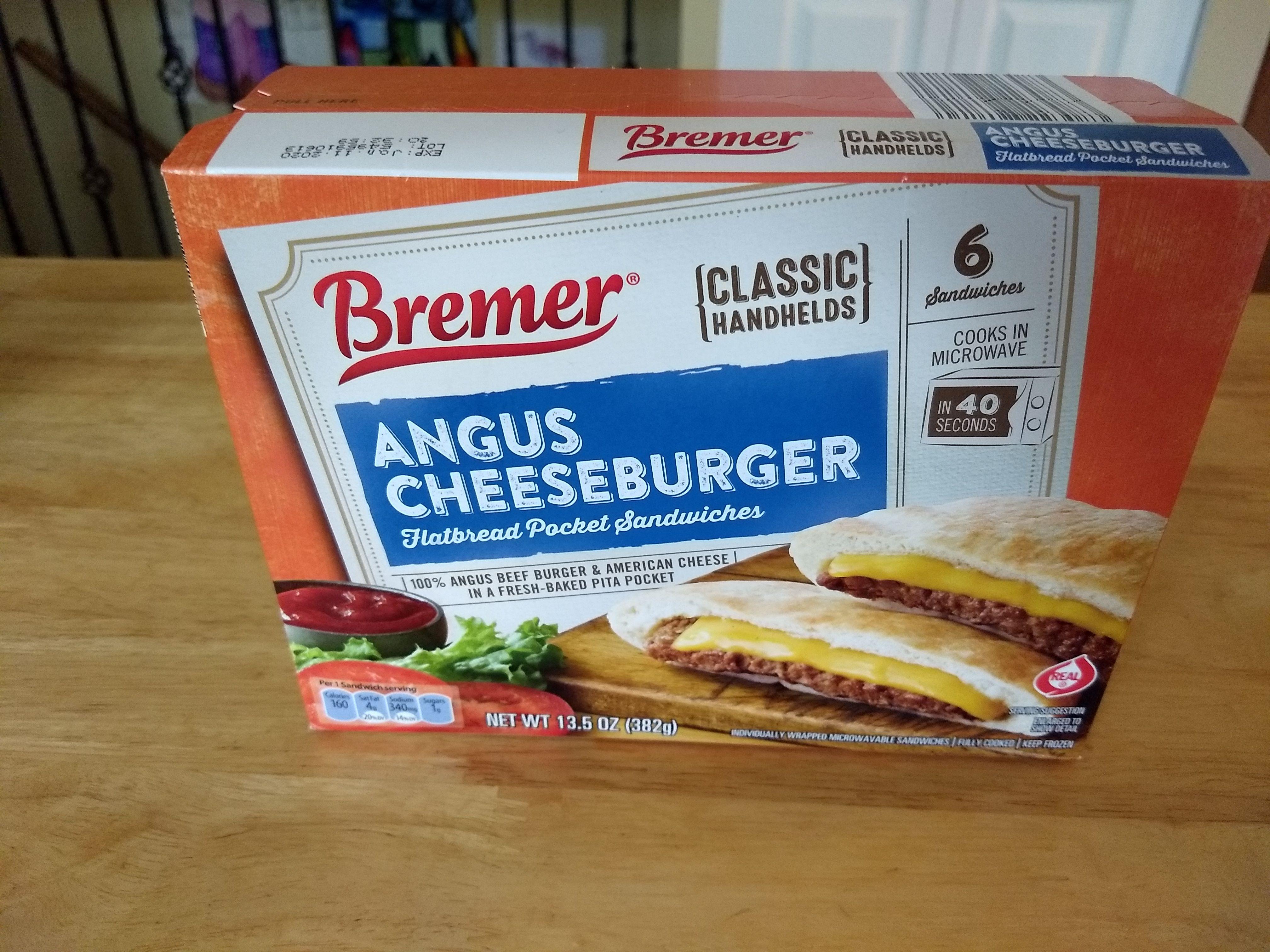 Bremer Chicken Melts Angus Cheeseburger Flatbread Pocket
