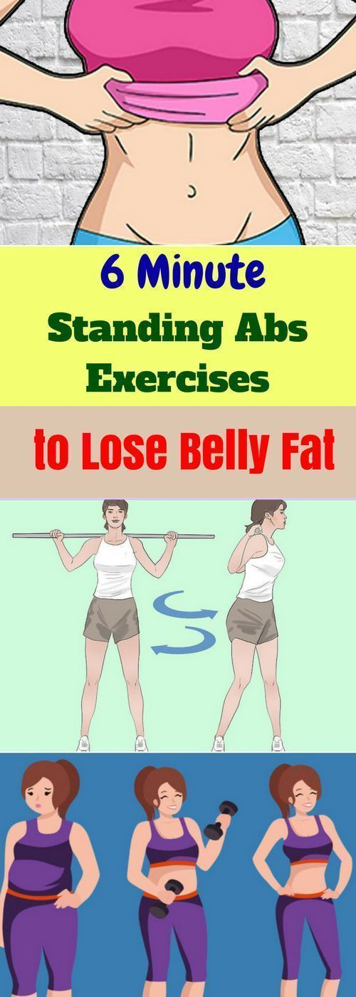 Here Are 6 Minute Standing Abs Exercises To Lose Belly Fat!!!  #beautytips  #fitness