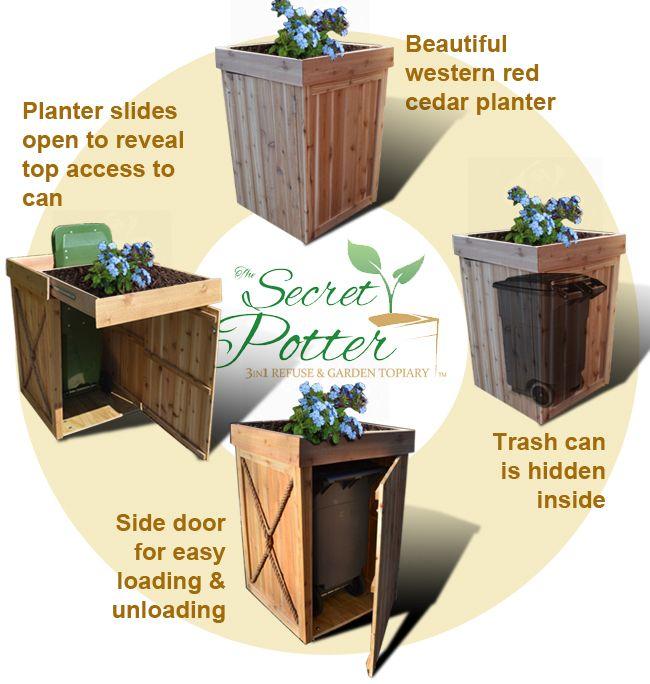 18+ Garbage can bins storage ideas