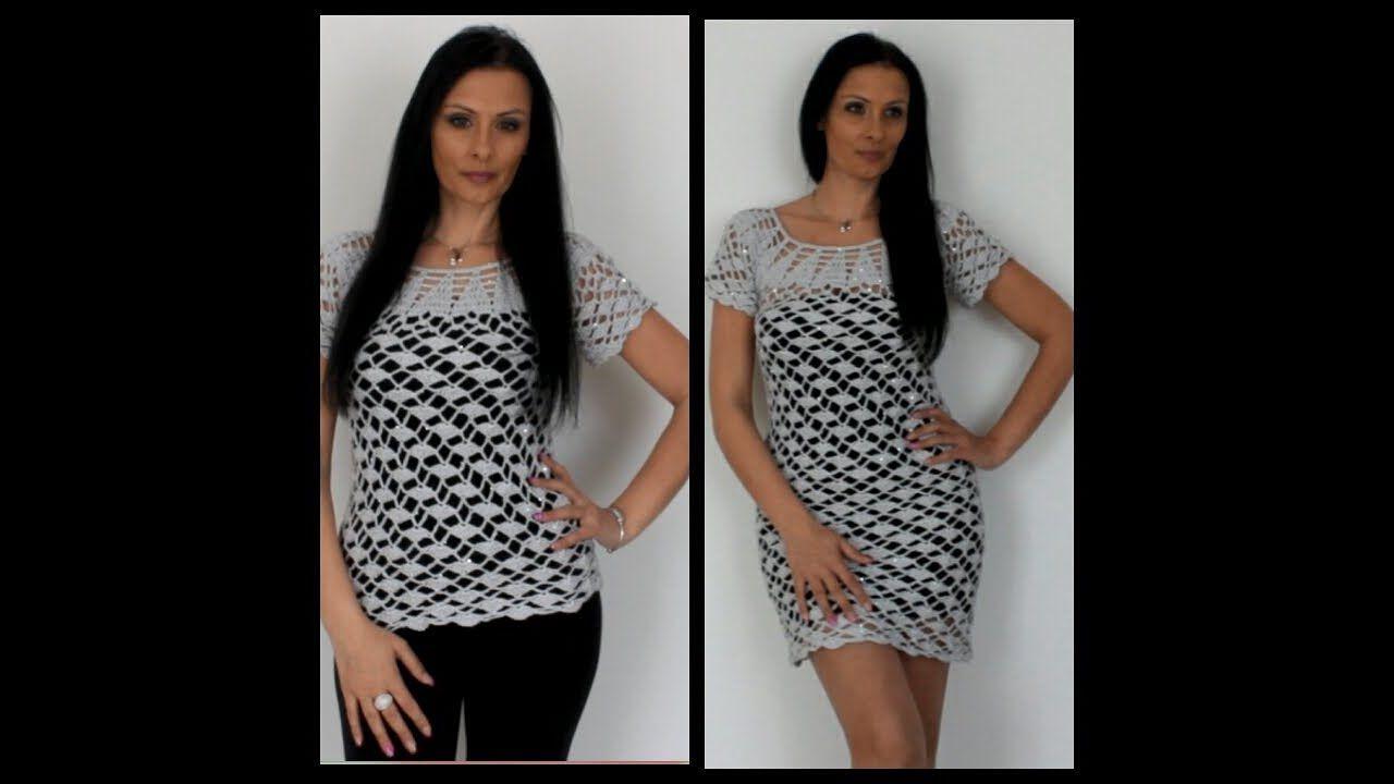 Uncinetto Maglietta O Vestito Magic Blusa O Vestido Magic Croche