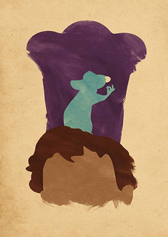 Walt Disney Pixar Ratatouille Minimalist Movie Poster