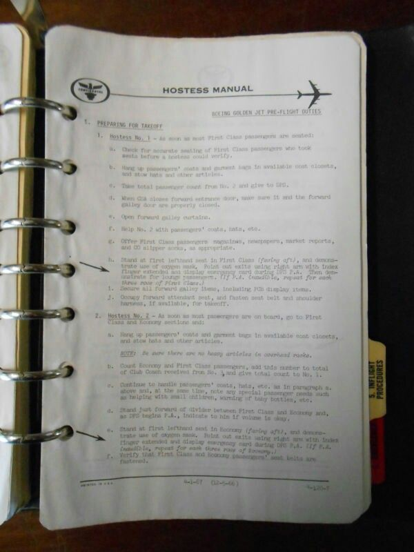 Continental Airlines Hostess Manual Continental Airlines Flight Attendant Airlines