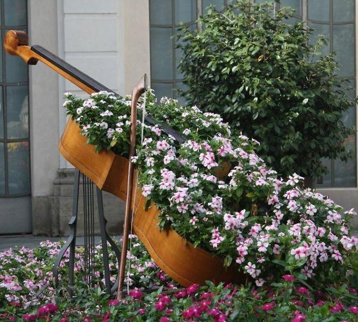 Gartenideen Zum Selber Machen Cello Blumenkübel