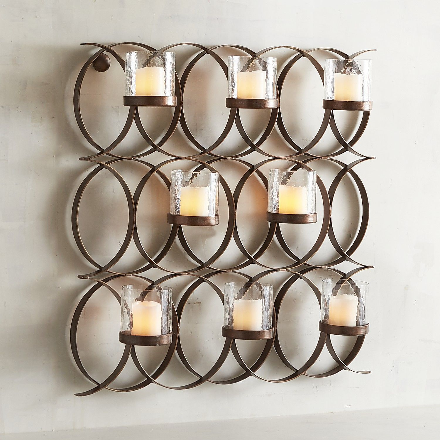 Intertwining Circles Multi Candle Wall Sconce Wall Candle