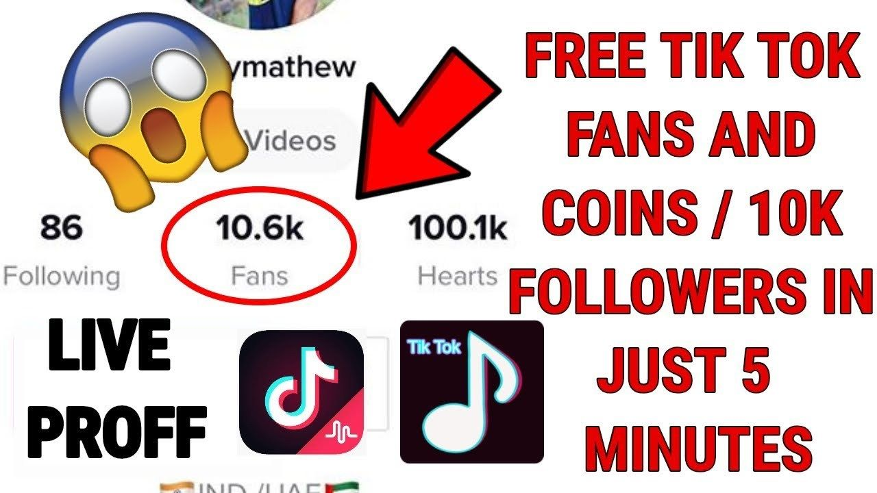 Tik Tok Followers - How to get free fans on Tik Tok