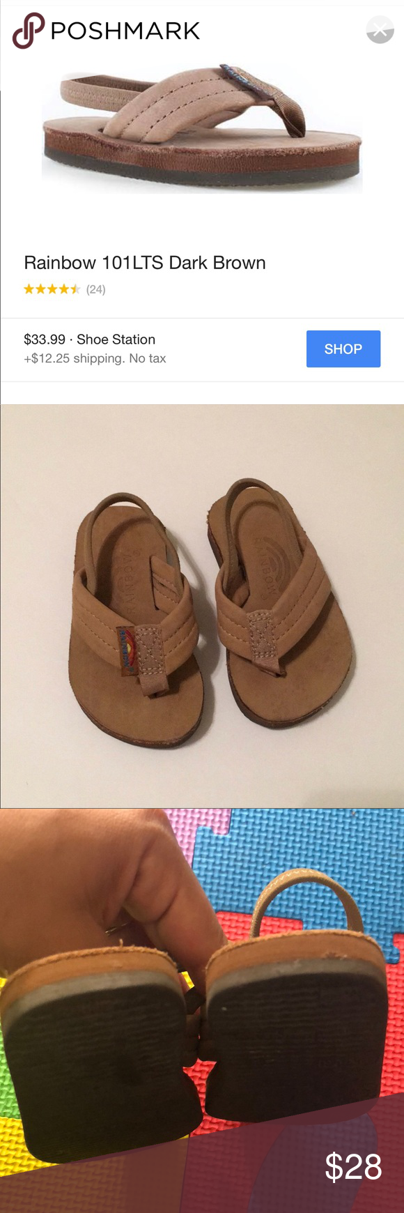 Toddler Rainbow Sandals Classic Brown Beautiful Little Rainbow Sandals Size 6c Perfect For The Beach Used Twice Si Rainbow Sandals Rainbow Shoes Classic Tan