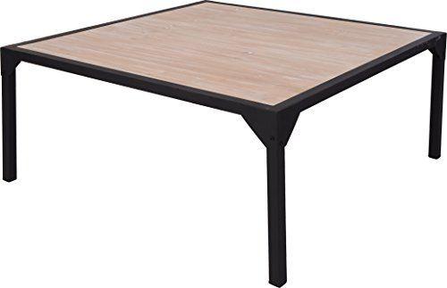 sch ner couchtisch im modernen industrial look aus metall und holz nur f r den innengebrauch. Black Bedroom Furniture Sets. Home Design Ideas