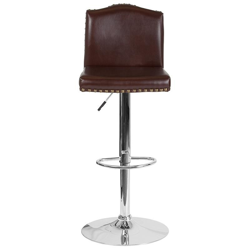Photo of Brown Leather Barstool