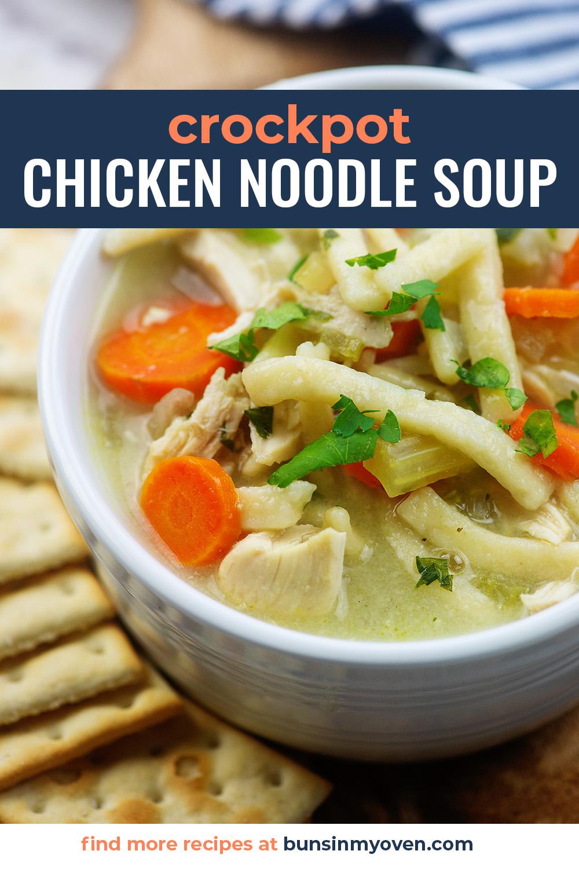 Family Favorite Crockpot Chciken Noodle Soup Recipe In 2020 Chicken Noodle Soup Crock Pot Crockpot Chicken Noodle Soup