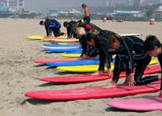The Boys Attended A Day Of Surf School In Santa Monica Venice Beachcalifornia