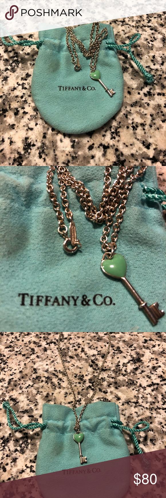 f7291c9a4de8 Tiffany   Co key necklace Tiffany   Co. Turquoise heart key pendant  necklace Tiffany   Co. Jewelry Necklaces