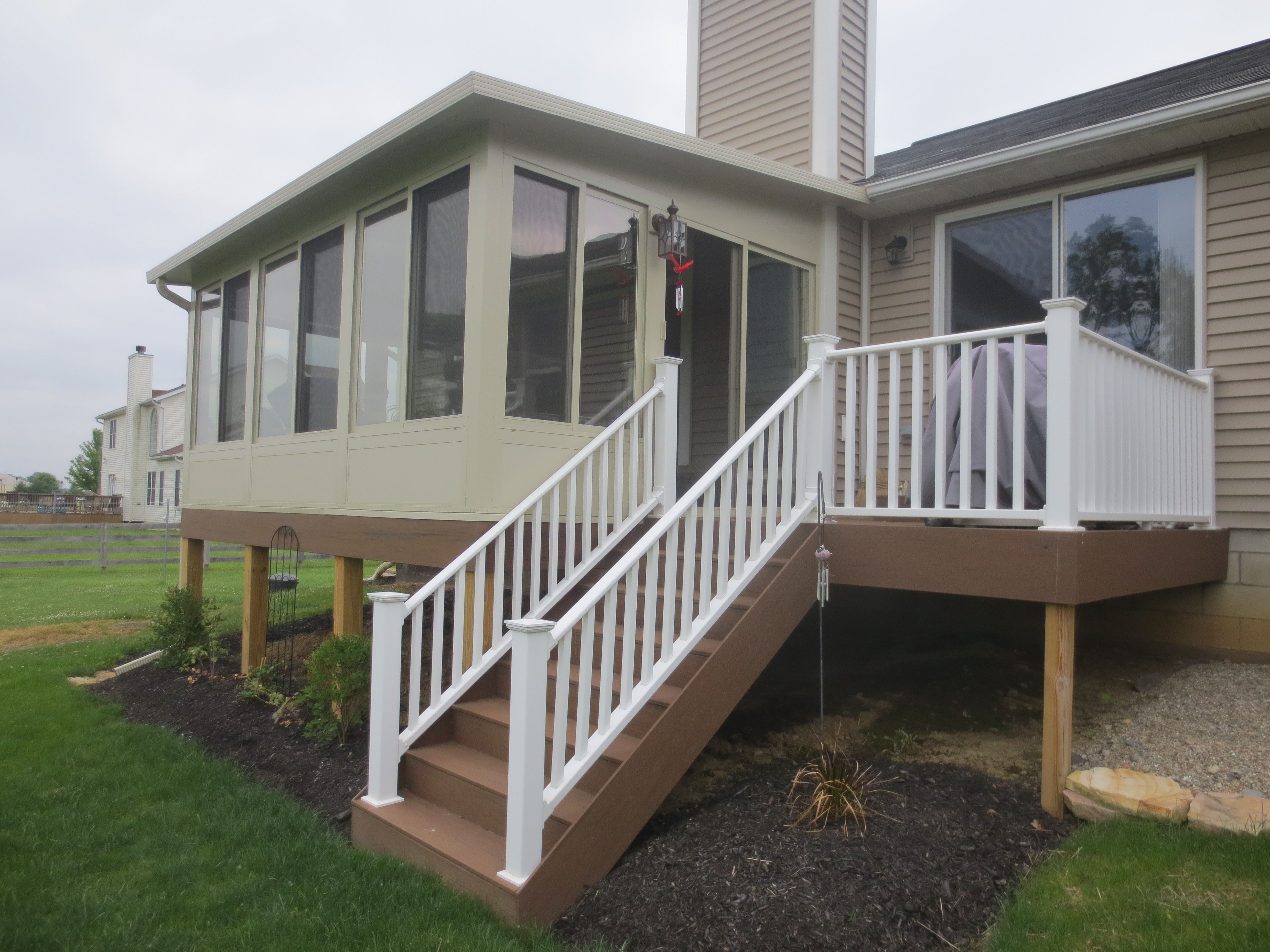 Jsb home solutions can build the deck and the betterliving for Building a sunroom on a deck