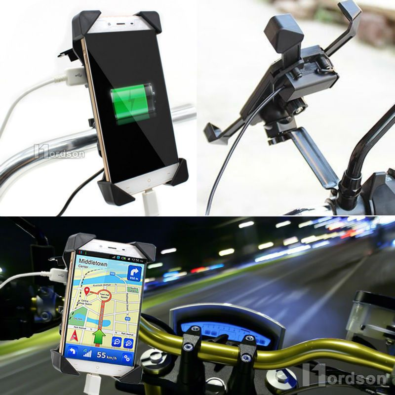 Universal Usb Gps Atv Bicycle Motorcycle Charger Cell Phone Mount