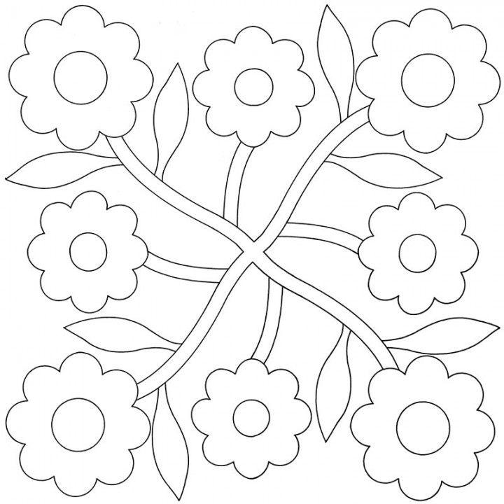 Rose-Spray-Applique-Quilt-Pattern   Appliqué quilts 6   Pinterest ...
