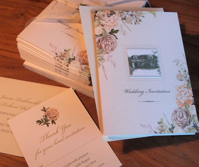 Designed For A Couple Who Held Their Wedding In The Garden Of Cottage These Country Invitations Use An Image On