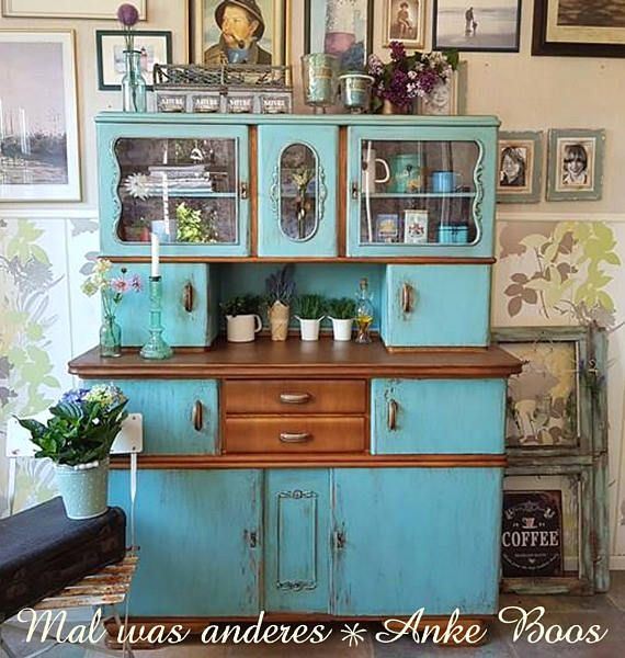 bezauberndes k chenbuffet 50er jahre shabby chick t rkis wohnen pinterest k che m bel und. Black Bedroom Furniture Sets. Home Design Ideas