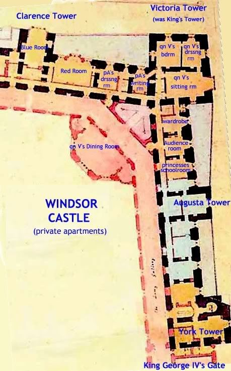 Another Plan Of The Private Apartments At Windsor Castle Floor Plan Windsor Castle Windsor Castle Interior