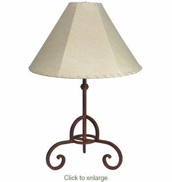 Rustic Iron Loredo Table Lamp In 2019 Western Lamps Table Lamp