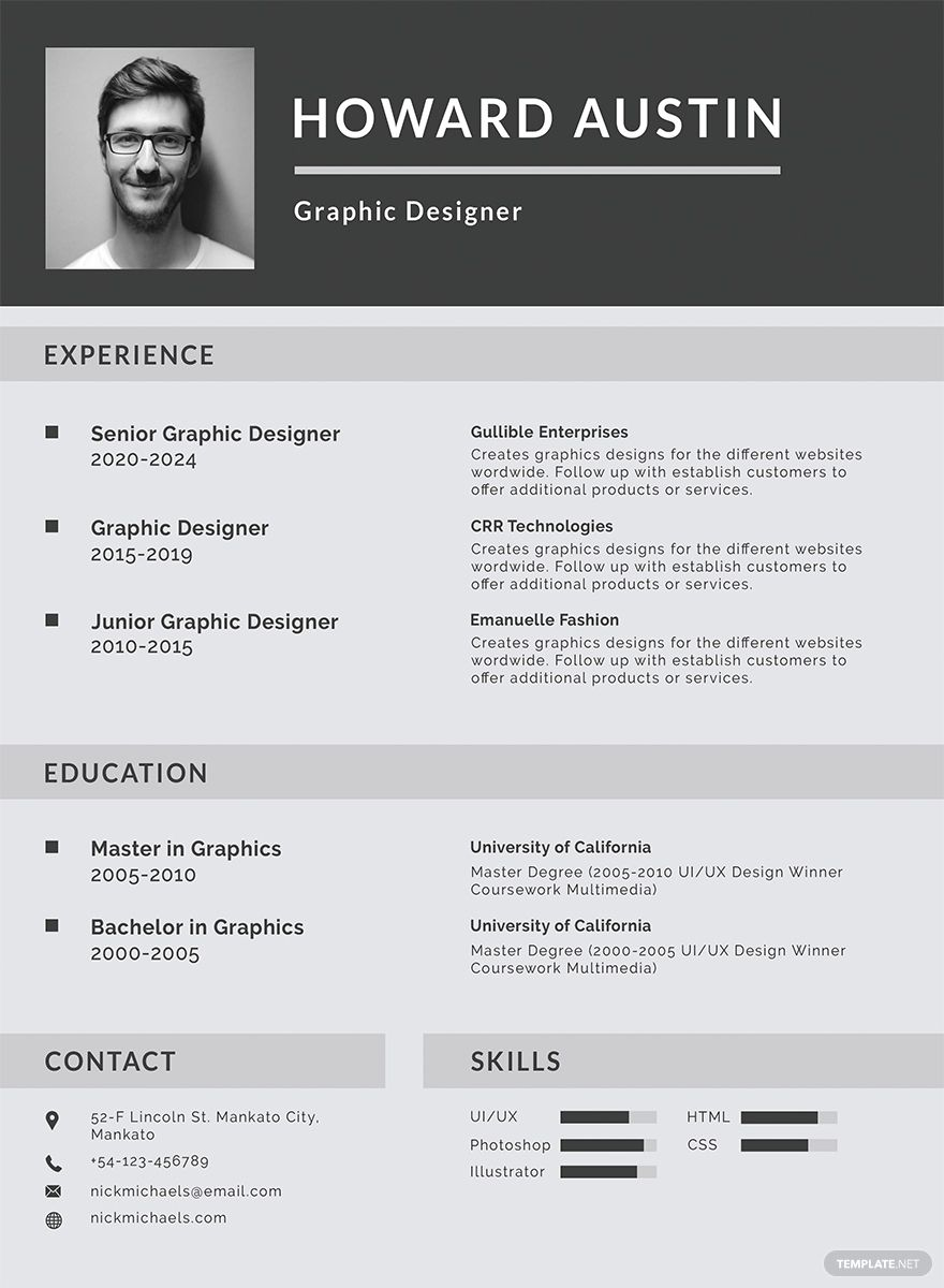 Free Basic Resume Cv Template Word Doc Psd Indesign Apple Mac Pages Illustrator Publisher Basic Resume Downloadable Resume Template Resume Template