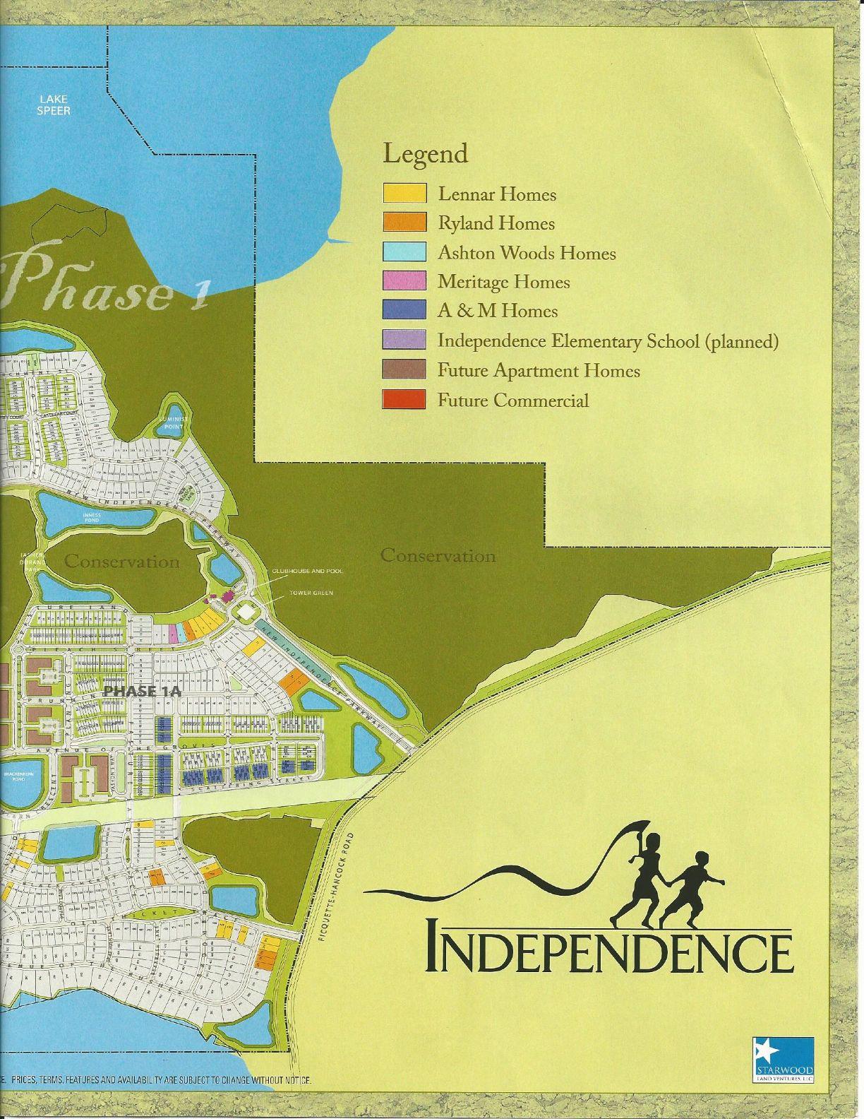 independence west side site plan in winter garden fl