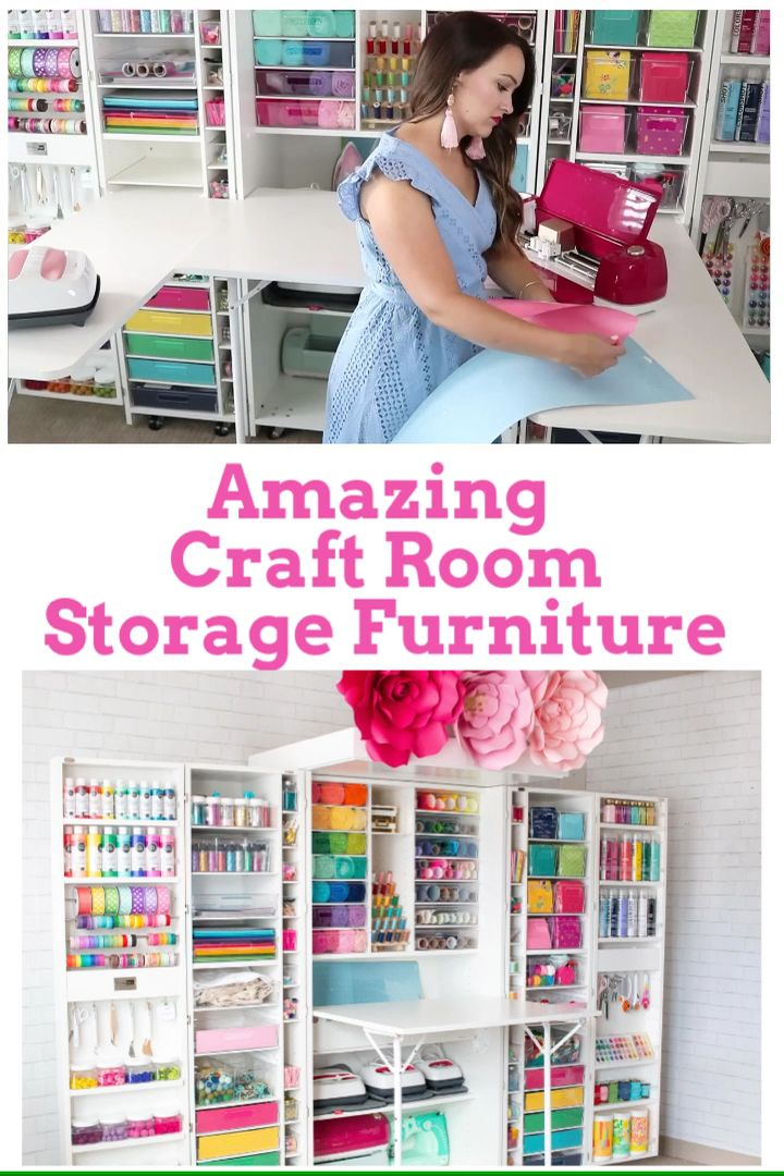 The Most Amazing Craft Room Organizer! #cricutcrafts