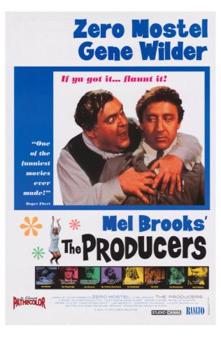 The Producers (1968), starring Zero Mostel, Gene Wilder, Dick Shawn, Kenneth Mars and Lee Meredith. Directed by Mel Brooks. ($19.99)