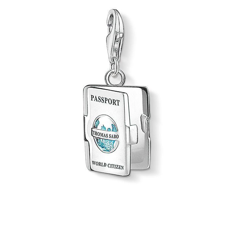 Thomas Passeport Pendentif Charme Sabo Turquoise 1233-007-17 Thomas Sabo UUFt5LueS