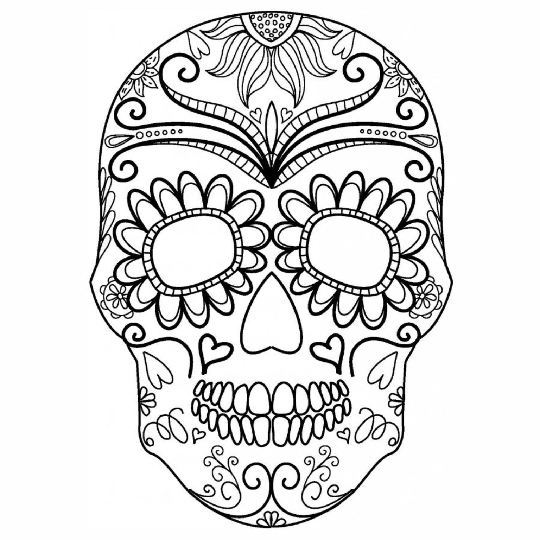 Caveira Mexicana 02 Png 1535 1535 Paginas Para Colorir
