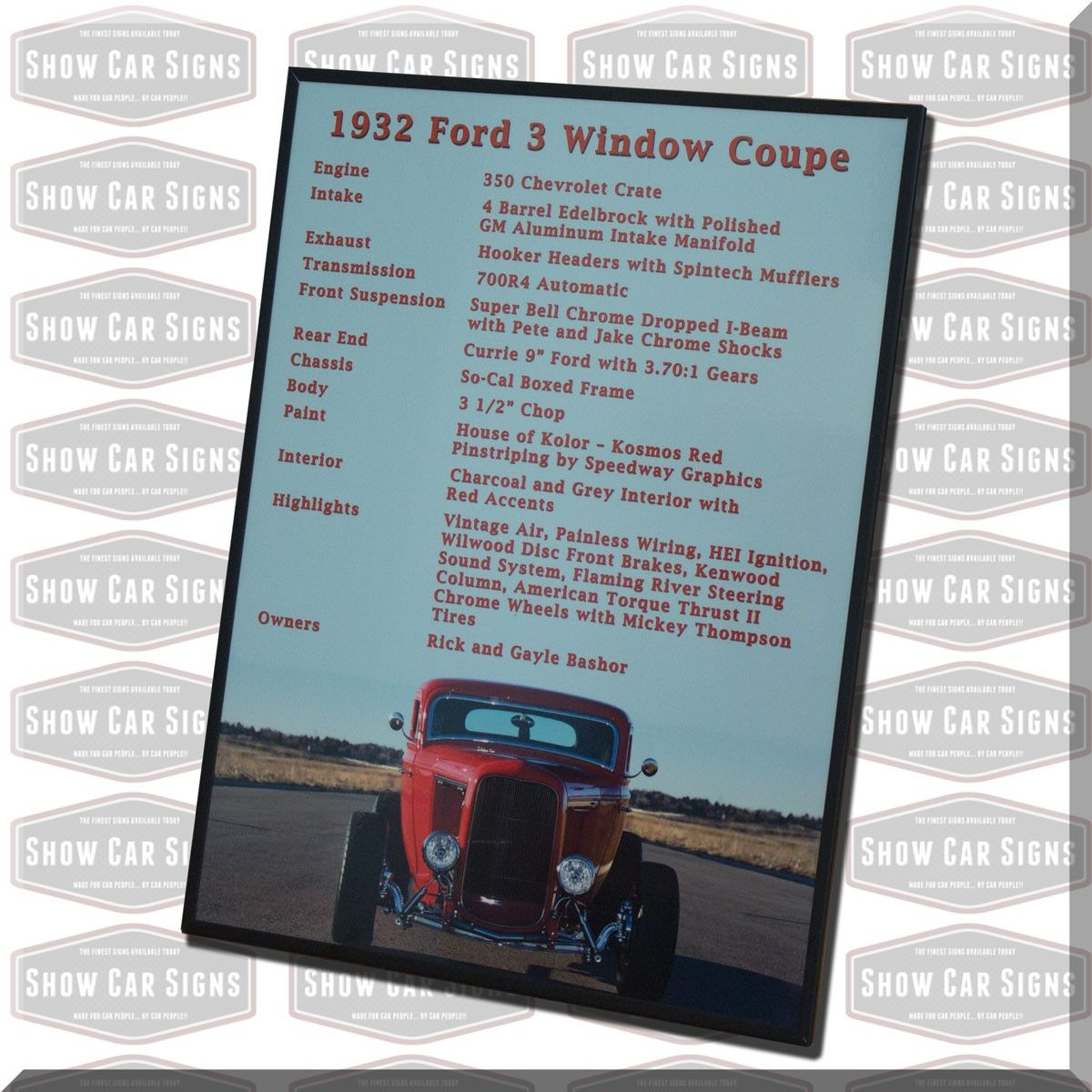Our Car Show Boards Are The Best On The Market Today When You Place - Car show display signs