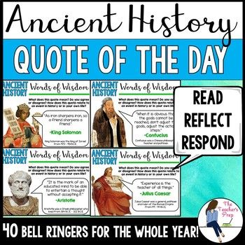 Photo of Social Studies Ancient History Quote of the Day Bell Ringers