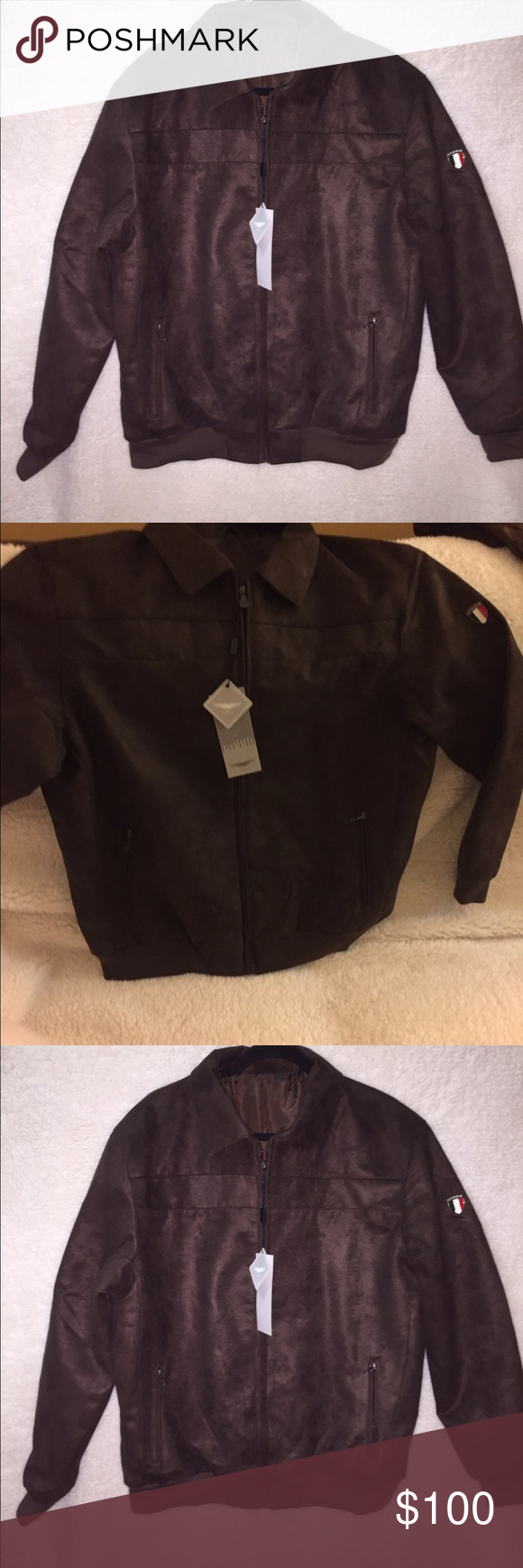 Ac Luxury Collection Jacket Made In Italy Band New Suede Jacket With
