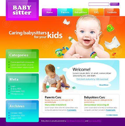 Babysitter WordPress Theme Wordpress and Template - kindergarten brochure template
