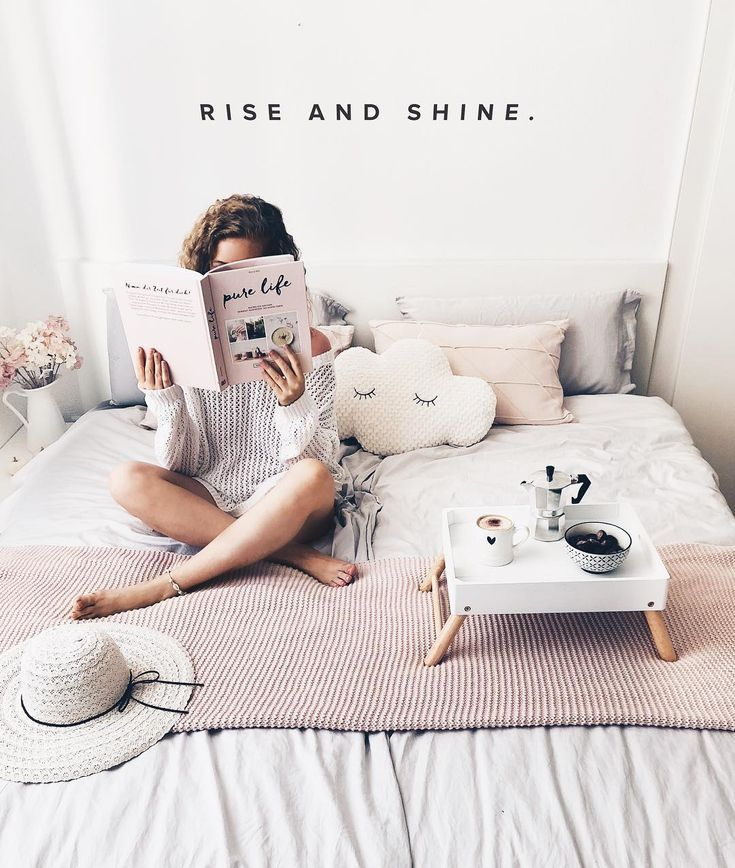 bedroom white interior inspo  quote  hygge hygge living