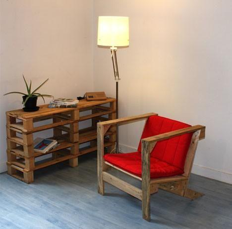 pallets reciclados en muebles de diseo