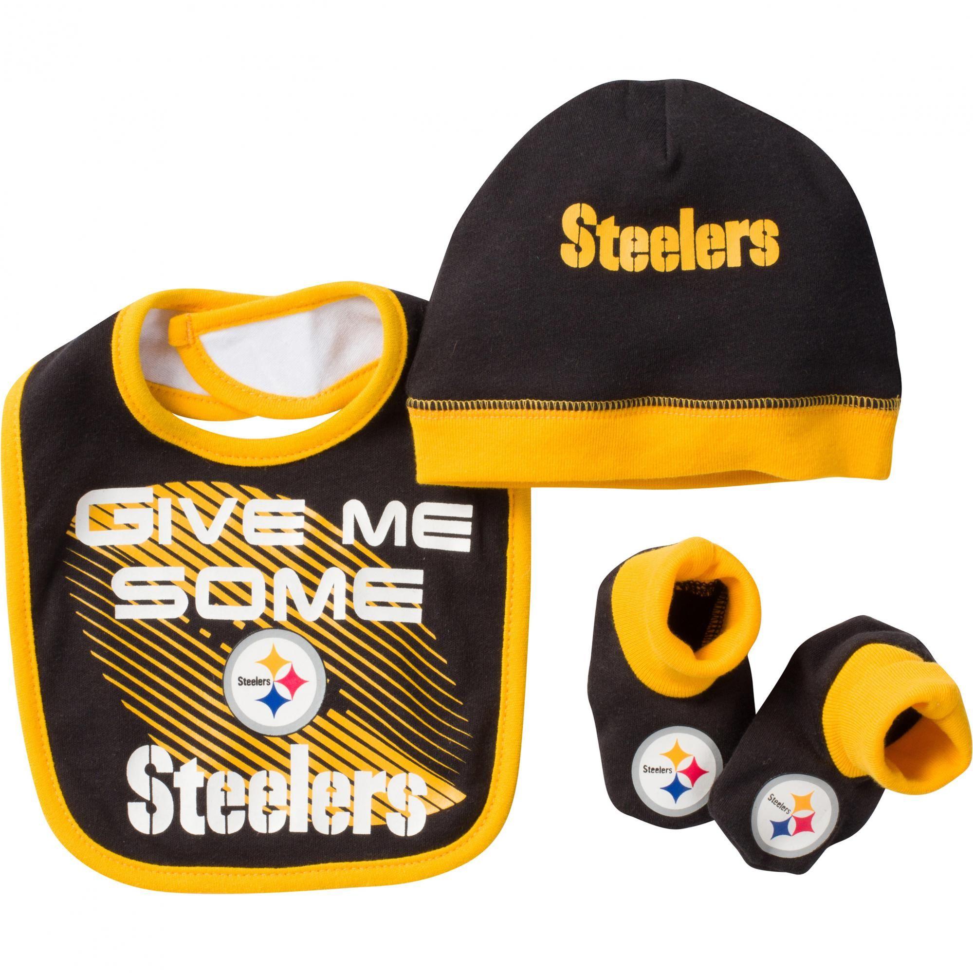 $14 99 ficial NFL Licensed Steeler Baby Bib Cap & Bootie Set Fun