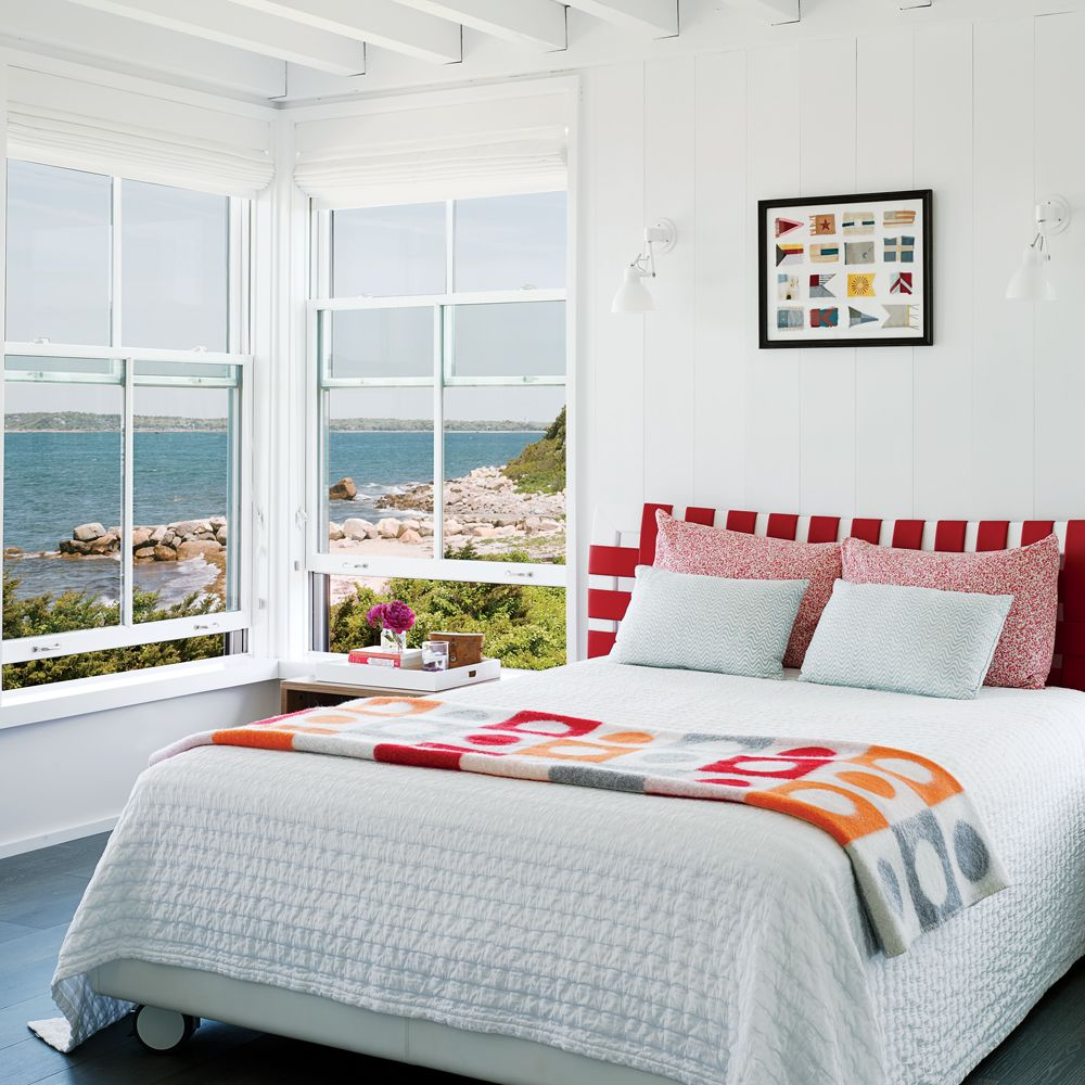 Bright And Bold Guest Bedroom: Coastal Bedrooms, Beach House