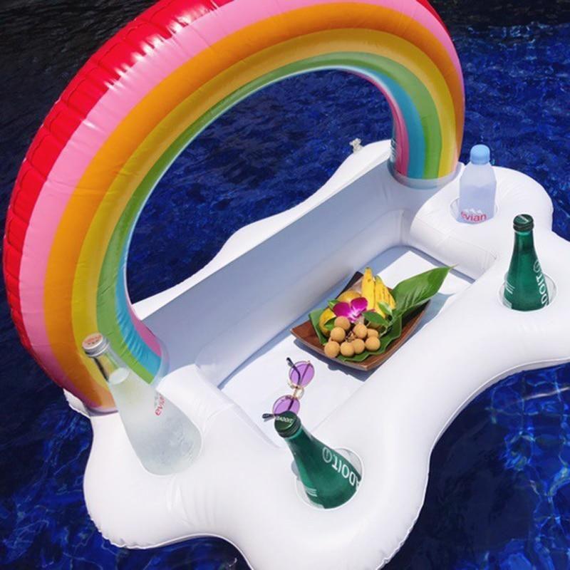 Rainbow Unicorn Pool Party Float Size 90 x 50 x 50cm
