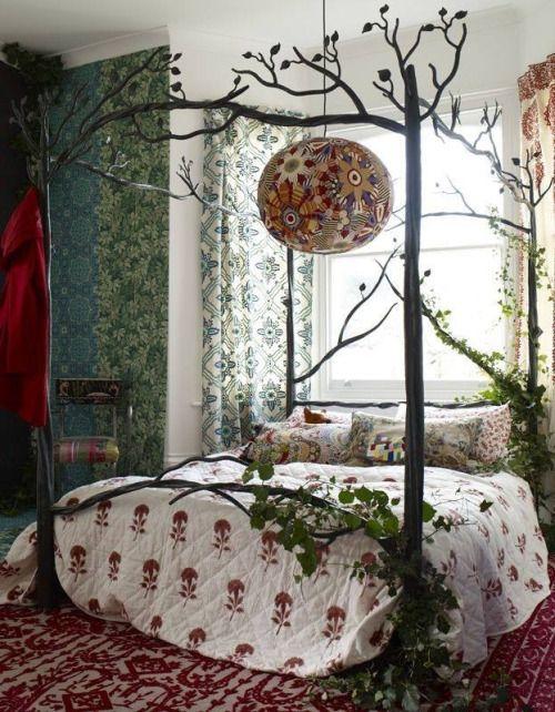 love hippie gorgeous bedroom trees boho romance lovely peaceful wallpaper enchan...