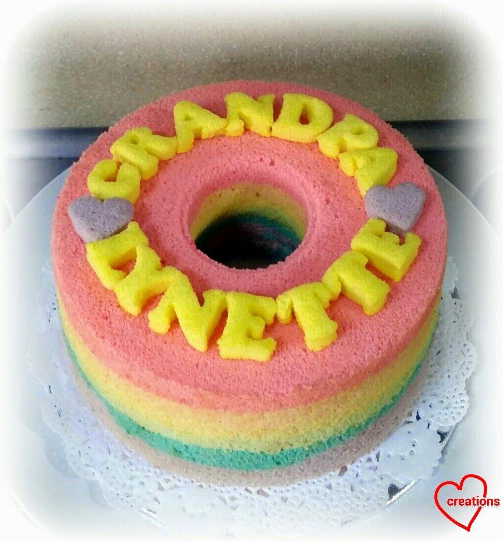 Loving Creations for You Pastel Rainbow Chiffon Cake