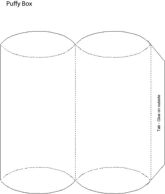 Puffy Box  Paper Crafts    Box Box Templates And
