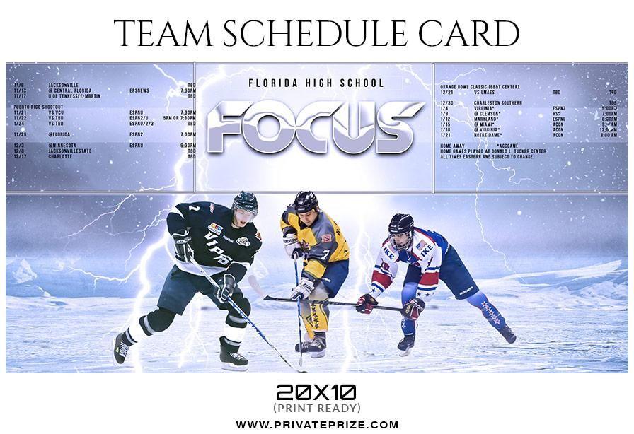 Focus Team Sports Schedule Card Templates