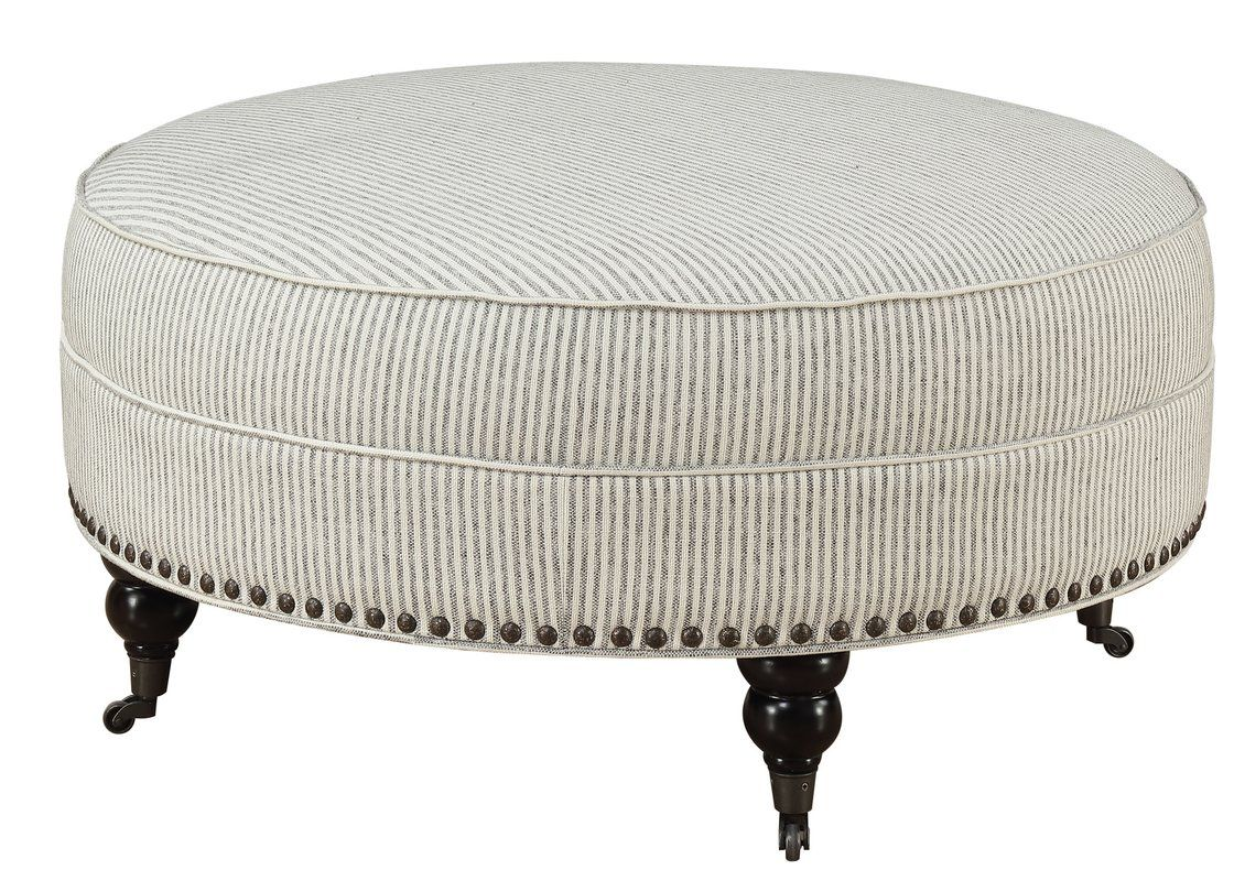 Outstanding Hoyer Stripe Ottoman In 2019 Florida Home Ottoman Round Pdpeps Interior Chair Design Pdpepsorg
