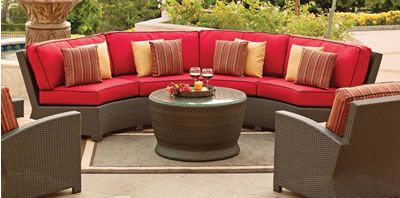 Curved Patio Sofa